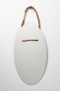Simple mirror with rope detail.