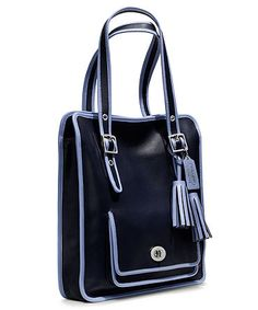 COACH Legacy Archival 2-Tone Leather Magazine Tote Style 22410 Laptop Tote  Bag, Coach 2b1c8a5b12