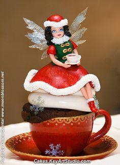 """Christmas Cupcake Fairy's Tea Time"" Cupcake"