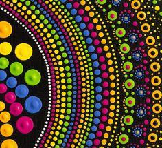 Pinturas arco iris Spin Mandala Dotart pintura Original con