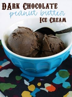 Homemade chocolate peanut butter ice cream