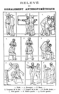 Alphonse Bertillon's anthropometry