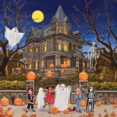 My favorite source for arts and crafts:  Beware Haunted House Jigsaw Puzzle