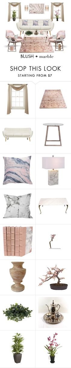 """""""Pastel Blush and Marble"""" by nancyh4745 ❤ liked on Polyvore featuring interior, interiors, interior design, home, home decor, interior decorating, Liz Claiborne, Mariana Lighting, Improvements and Pier 1 Imports"""