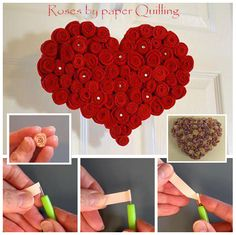 Roses by paper Quilling