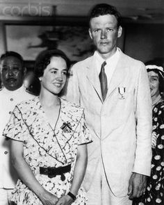Charles Lindbergh and His Wife Wearing Medals Anne Morrow Lindbergh, Charles Lindbergh, Social Activist, Photo Library, St Louis, American History, Famous People, Cool Photos, Royalty Free Stock Photos