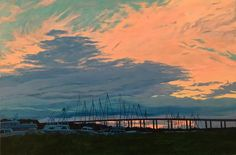 """Sunset Over City Marina"" 