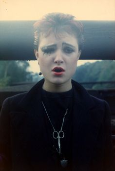 SIOUXSIE by Steve Severin .Siouxsie on 20 September 1976, the day of the 100 Club Punk Festival.