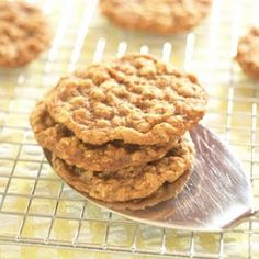 No Sugar Oatmeal Cookies-These can be frosted with a drizzle of chocolate candy bar instead of chips after baking.