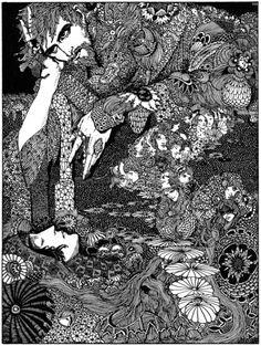 ハリー・クラークが描いた、E.A.ポーの小説の挿絵