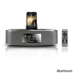 Great for a man cave or on a night stand, this alarm clock speaker will play his favorite tunes and keep him on time.