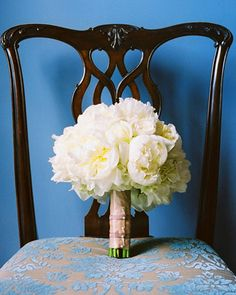 White Peony Bouquet from Martha Stewart