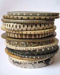 Julie Mellor/brazalete de ceramica/