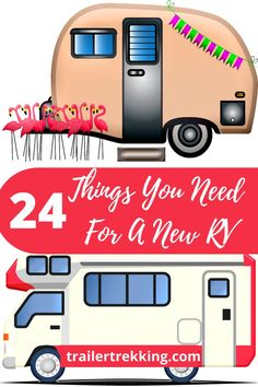 Buying a travel trailer or RV is exciting. It comes with the basics: an oven/stove, refrigerator, a bed, seating, and maybe a bathroom. But there are more things you'll need before you go camping. This article is all about the extra things you'll need for your new vacation home on wheels. #trailertrekking #rv #rvlife #rvliving #traveltrailer #camping #camper #newrv #newtraveltrailer #newcamper Travel Trailer Living, New Travel Trailers, Travel Trailer Camping, Rv Travel, New Trailers, Go Camping, Camper Van Life, Cold Weather Camping, Buying An Rv