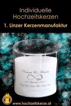 Ich fertige einzigartige Hochzeitskerzen nach individuellen Wünschen an. Ein Unikat für jedes Brautpaar. 100%ige Handarbeit aus Oberösterreich. Sie können nicht nur die Verzierung, sondern auch die Form der Kerze selbst bestimmen, da wir auch die Rohlinge nach Kundenwunsch selbst herstellen. Kerze mit Holz, Mantelkerze, Kerze mit Mineralien, Achat, Meteorit, Hochzeit selbstgemacht Standesamt Kirche Hochzeitsbrauch Geschenk Dekoration Kerze deko Trauung Trauspruch Kerzenshop Form, Glass Of Milk, Shot Glass, Candle Decorations, Civil Wedding, Embellishments, Newlyweds, Handarbeit, Shot Glasses