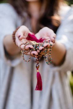 Durga Mala made in Bali is used for meditation and bringing mindfulness to everyday life.
