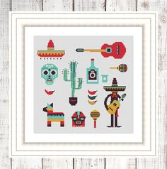 Mexico PDN Cross Stitch Pattern by NikkiPattern on Etsy