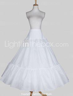 Nylon A-Line Full Gown 3 Tier Golv längd Slip Style   Bröllop Underkjolar  2015 c72ff72e488bd