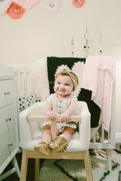 The most stylish baby we know! http://www.stylemepretty.com/living/2015/02/23/modern-french-inspired-nursery/ | Photography: Diana Zapata - http://www.dianazapata.com/