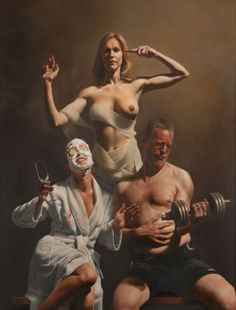 TEMPLE OF SKIN AND BONE Oil on Canvas 145 x 110 cm Mitch Griffiths