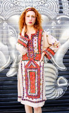 Afghan embroidered vintage dress