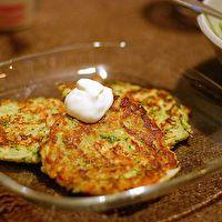 Zucchini Latkes by Smitten Kitchen