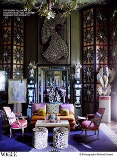 Rich + glamorous. Tony Duquette's Beverly Hills home