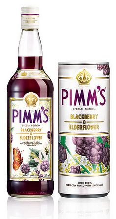 Read more about Pimm's Blackberry & Elderflower Special Edition. Bottle Packaging, Food Packaging, Fun Drinks, Yummy Drinks, Beverages, Vodka, Whisky, Alcohol Spirits, Whats For Lunch