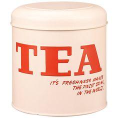 Buy Vintage by Wayne Hemingway Tea Storage Tin Online at johnlewis.com