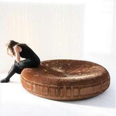 kraft paper/cardboard round bench