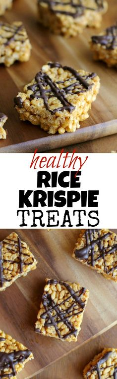 Healthy Rice Krispie Treats--this childhood favorite is made with NO marshmallows or butter, but tastes just as delicious as the original