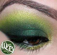 deep smokey greens via The original queen b makeup