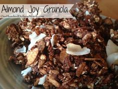 Almond Joy Granola Recipe #Breakfast #Granola #Recipes