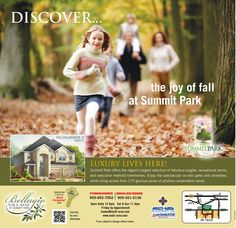 A real estate ad that beautifully captures the colors of Fall.