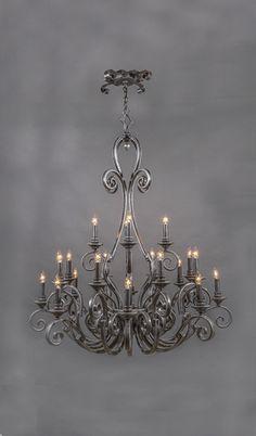 Cordoba Vintage Wrought Iron Chandelier - 20 Light