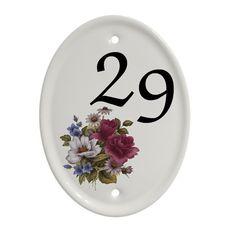 House Name Signs House Name Plaques, House Name Signs, House Number Plaque, House Names, Sign Company, Ceramic Houses, Bespoke Design, Plates On Wall, Purple Flowers