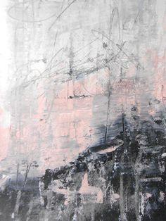 "A4 Original Mixed Media Modern Abstract Painting 11.7x8.3 ""Divided"""