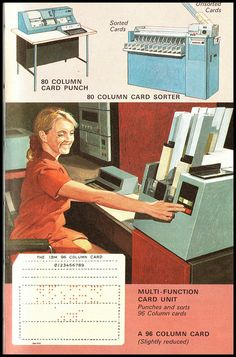 """Ladybird series 654 - How it works - The Computer. If you wanted to convey computing power in fillums of the late 60's / early 70's it was always the punch card sorter that took centre stage."" I have no idea what those words mean in that order. But awesome anyway!"