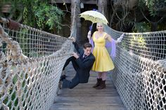 Tarzan & Jane. This would be a great idea for one of my engagement pictures for whenever I get married.