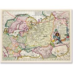 Trademark Art 'Map of Asia Minor, c. 1626' Canvas Art, Size: 35 x 47, Multicolor