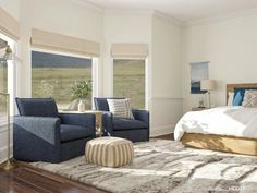 22 Creative Ways to Decorate a Bay Window Bay Window Design, Sophisticated Bedroom, Bedroom With Sitting Area, Rustic Nightstand, Oak Beds, Bedroom Seating, Bedroom Layouts, Bedroom Ideas, Bedroom Decor