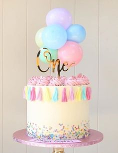 Beautiful Birthday Cakes, Beautiful Cakes, Amazing Cakes, Pretty Cakes, Cute Cakes, Le Cacao, Ballerina Cakes, Balloon Cake, Baby Birthday Cakes