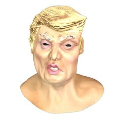 Make some rash decisions with this Trump look alike latex mask. This product may differ slightly as each mask is hand painted. Scary Halloween Masks, Scary Mask, Look Alike, Latex, Princess Zelda, Hand Painted, Fictional Characters, Art, Art Background