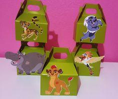 El León protector fiesta cajas verde por YourPartyShoppe en Etsy