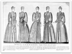 1890-1891 Vintage Fashion: H. O'Neills Fall & Winter Catalogue Page 19 - Victorian Tea Gowns & Wrappers.