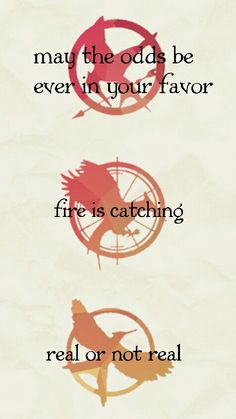 The Hunger Games, Catching Fire, Mockingjay.