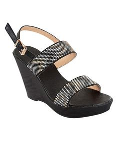 Love this Black  Chevron Studded Sandal on #zulily! #zulilyfinds