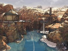 This is an image from the game Myst: Revelation. I have wanted to own this house or something similar since I was about 12 years old. It'll happen, someday.