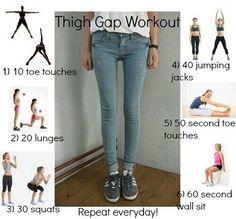 Thinner thigh workout, I definitely don't want my thigh gap that big lol.