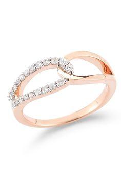 OMG I'm obsessed!!!  Lily & Isabella | 14K Rose Gold Interlocking Diamond Ring